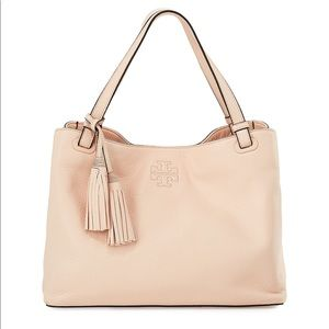 Tory Burch Thea Center Zip Tote Bag with Tassels